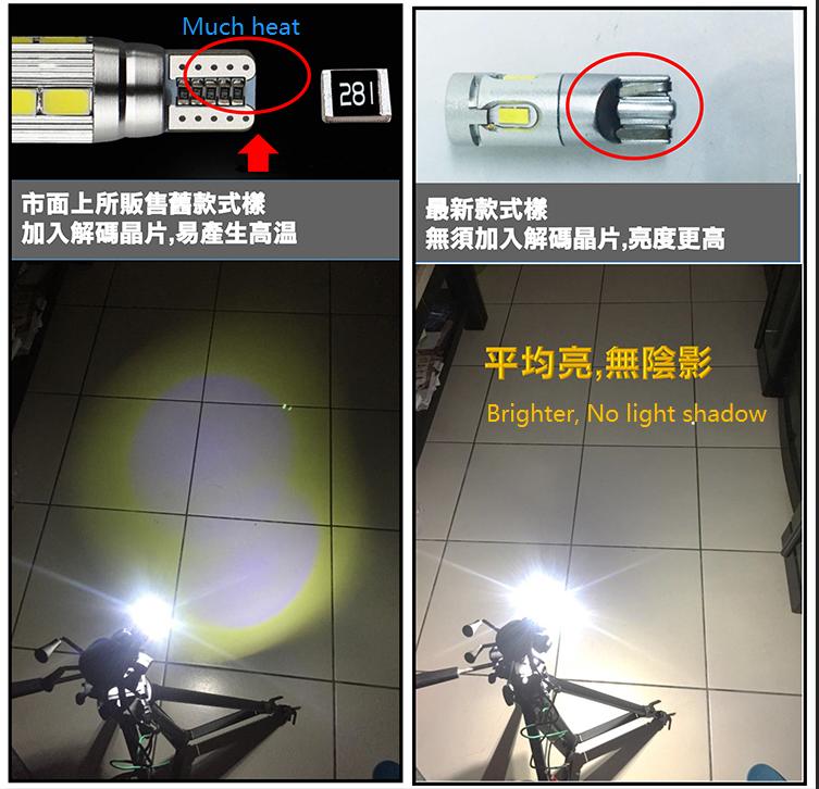 2019 Interior canbus LED 2.3W 235LM w5w reading light t10 CSP 2020 LED