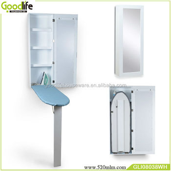 Delicieux Wholesale Wall Mounted Wooden Ironing Board Closet With Mirror