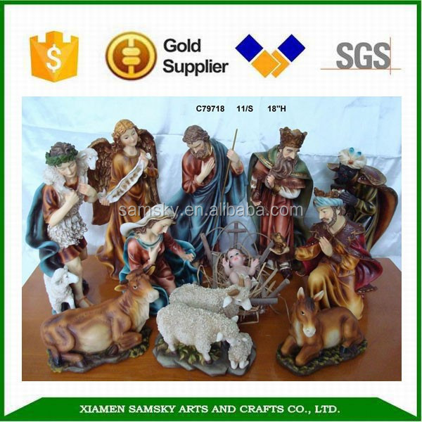 Decoration 15'' Resin Christmas China Nativity Set, Nativity Scene, Nativity Figurines