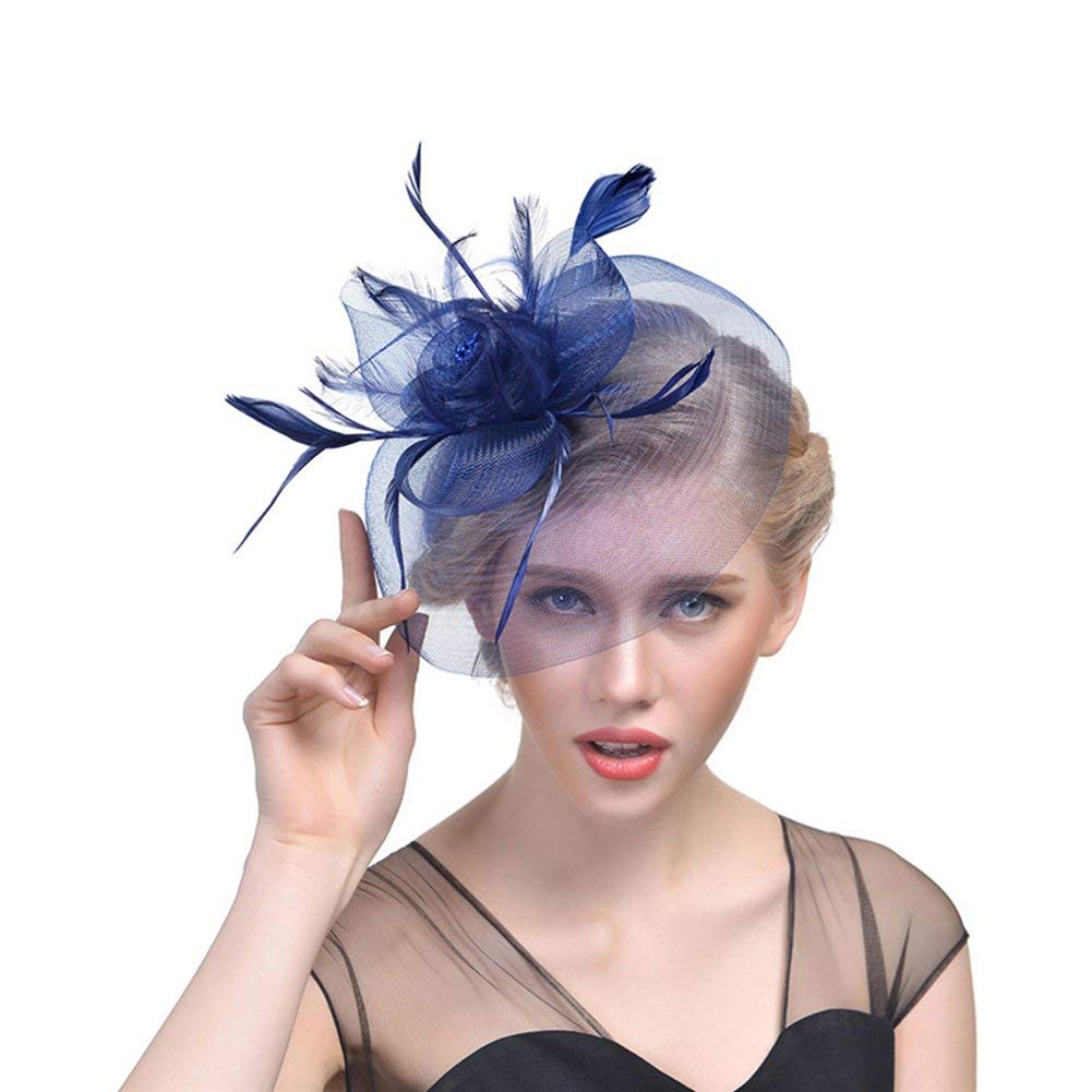 Get Quotations · RAGAN Bridal Fascinator Hat 5c3efebac8e