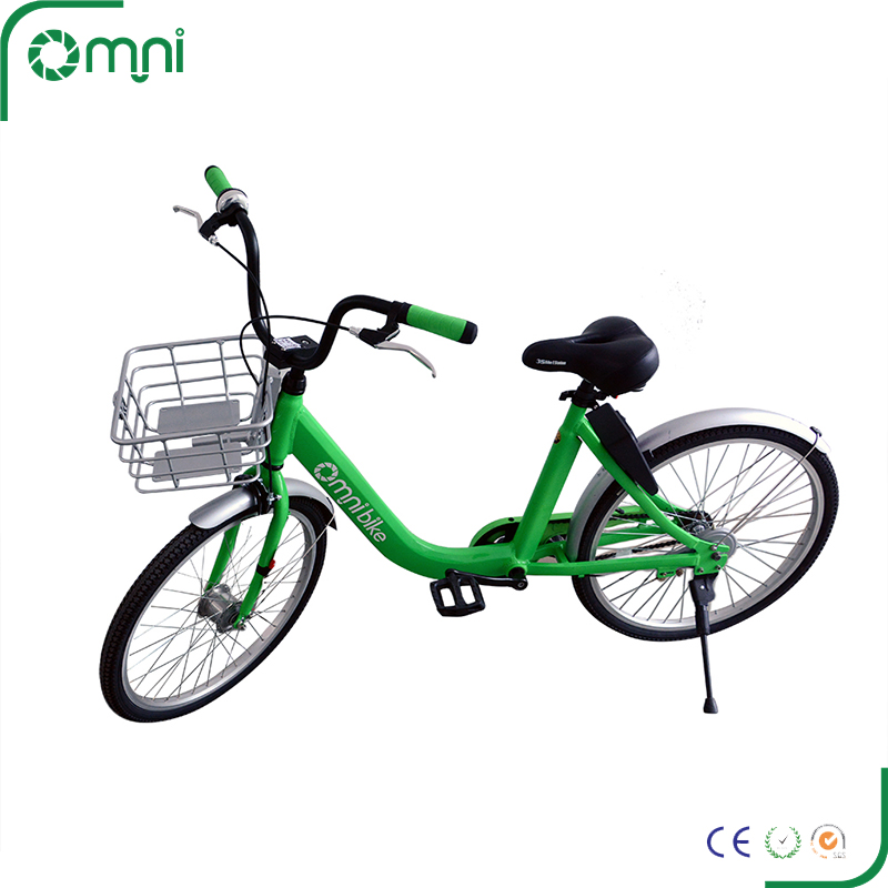 OEM Mobike style airless tire 3 speed sharing bicycles for pubic urban bike rental