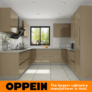 Oppein Luxury Lacquer Mobile Home Kitchen Cabinets Dubai - Buy Mobile Home  Kitchen Cabinets,Kitchen Cabinets Dubai,Luxury Kitchen Cabinets Product on  ...