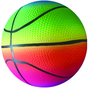 Rainbow PVC toy basketball for promotional gift ball for kids