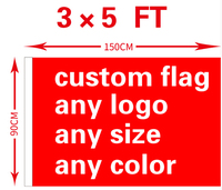 Custom Flag 3x5FT Polyester All Logo Any Colors Banner Fans Sport Custom Flags