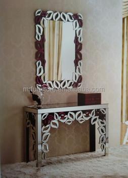 conception de fleur miroir meubles entre console avec miroir murale ensemble