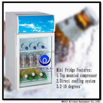 Einzelne Tür Design Mini Kühlschrank Hotel Mini Kühlschrank Schrank ...