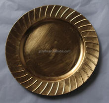 hot selling gold charge plate plastic food face plate