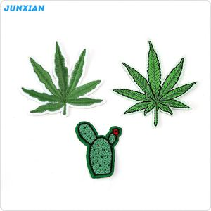 New product trendy style cactus leaves applique embroidery