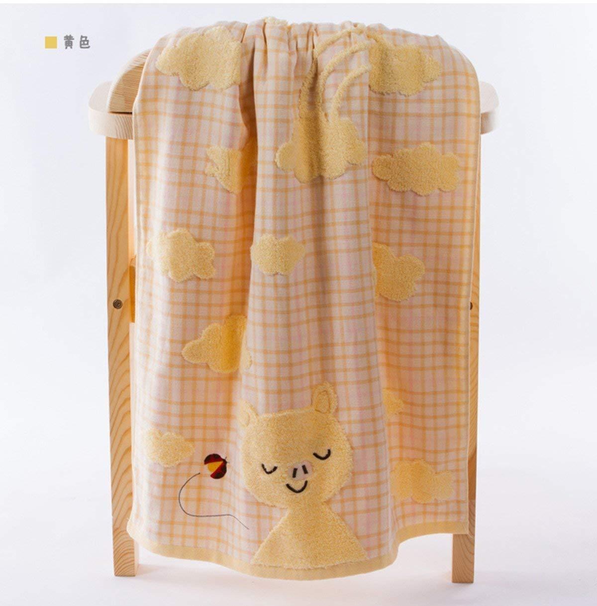JIAHAO G3572 Lovely Cartoon Rabbit Animals Pattern Baby Kid Bathroom Bath Towels Large Washcloth 120cm×62cm