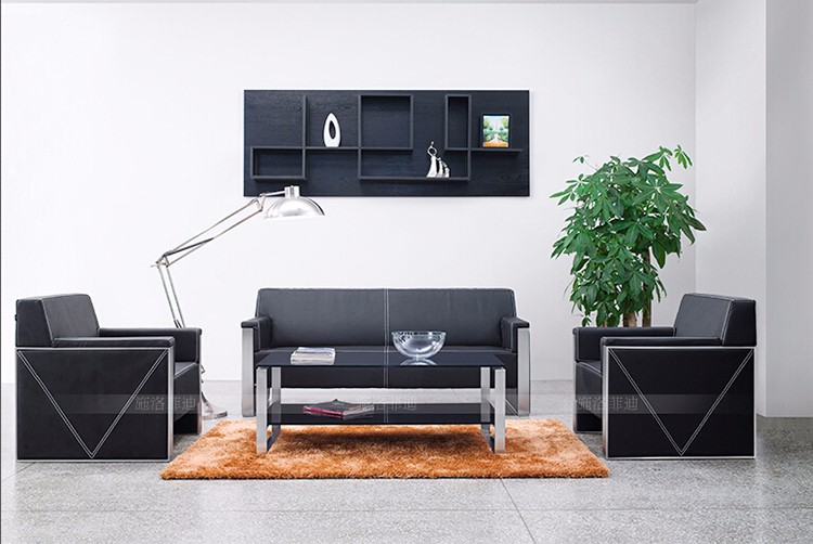 moderne luxus b ro sofa set edelstahl metall echtem leder sofa buy product on. Black Bedroom Furniture Sets. Home Design Ideas