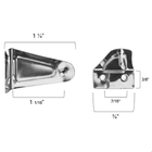 Metal Hold Down Brackets with integrated pin for Mini Blinds and Cellular Shades