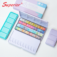 Superior Master level solid paints water color set with professional tin box the pigment material is from European