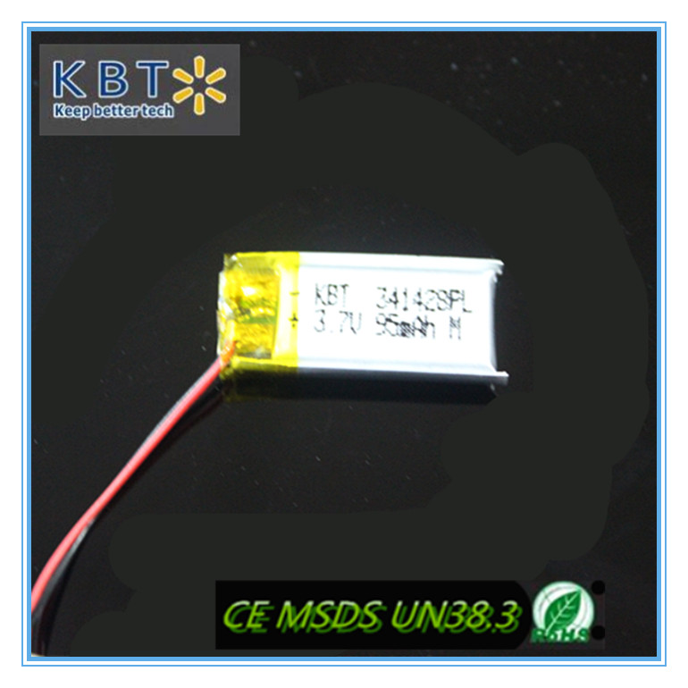 KBT battery deep cycle recharge li-ion battery 341428PL95mAh