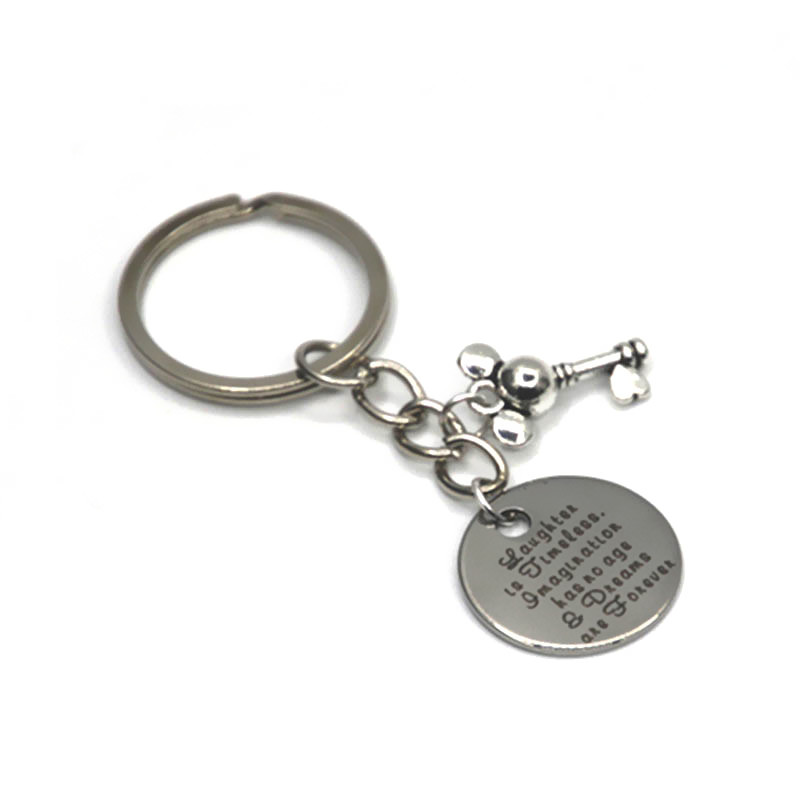 Laughter is timeless Imagination has no age and Dreams are Forever Keychain mouse <strong>key</strong>