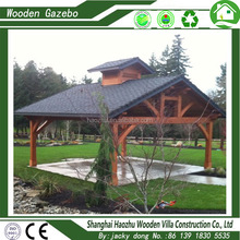 manufacturing solid garden wood pavilion