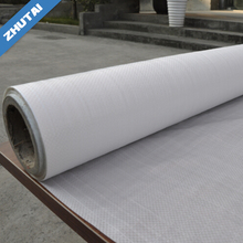Recycled polypropylene woven fabric in roll or tubular