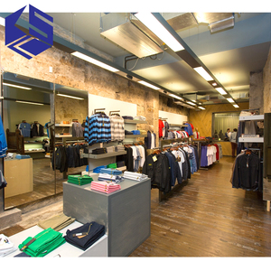Fashionable shop decoration design menswear shop interior design clothing store furniture
