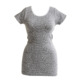 Quality Sexy Casual Clothes Ladies Women's Snake Skin Jacquard Short Sleeve Top