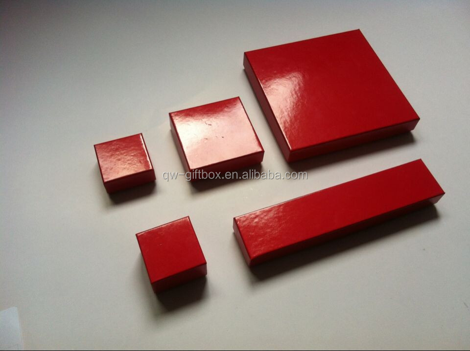 Handmade and simply red jewelry paper box--SS006