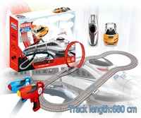 Soba 680cm 1:43 radio control slot toys children play flexible car racing track toy train