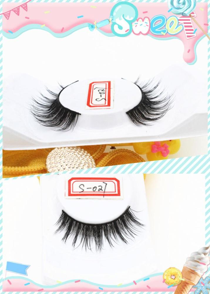 Qing dao wholesale 100% mink eyelash with good quality natural looking, eyelash extension, false eyelash