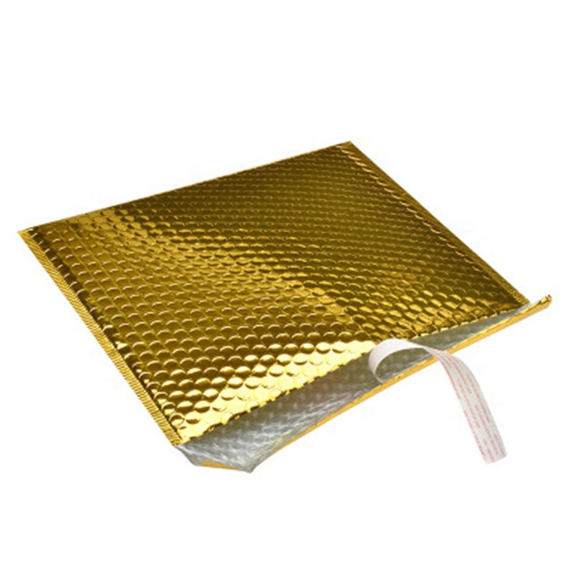 b2cbf1587934 Custom Bright Gold Poly Bubble Mailing Mailer Shipping Padded Envelope Bags  Black Color Shockproof Courier Bubble