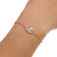 classic design fashion jewelry copper brass cheap wholesale turkish evil eye rose gold multicolor evil eye bracelet