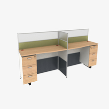 Free sample Custom Size office furniture workstations for 4 seat people