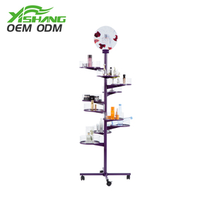 Professional OEM & ODM services clear rotating acrylic nail polish rack display stand cabinet