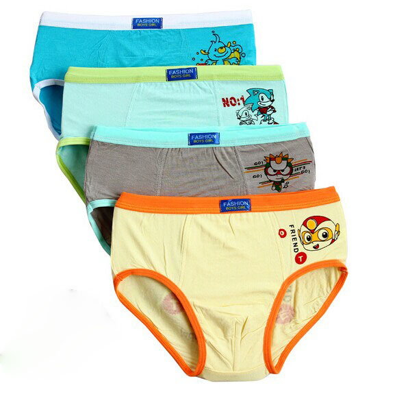 4pc lot 2016 Cotton Children Boys Underwear Kids Cartoon Briefs underpants baby boy Panties BOYS boxer