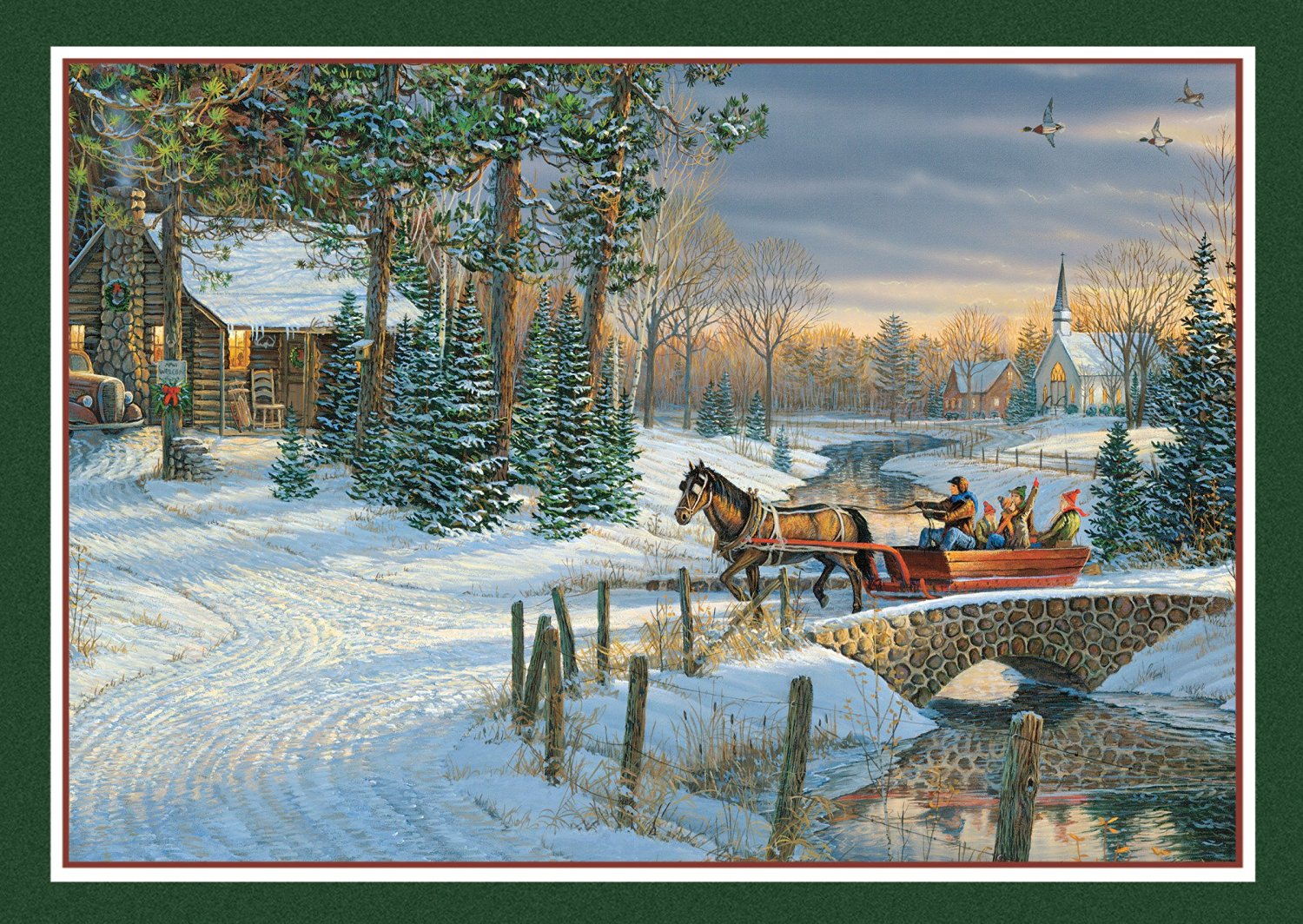buy lang holiday sleigh ride boxed photo christmas cards 14 cards with 15 envelopes 2003016 in cheap price on malibabacom