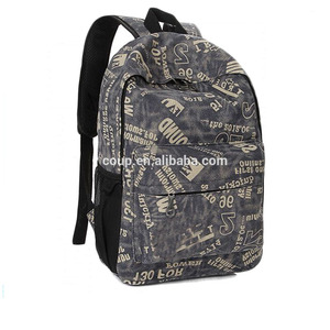 Wholesale Custom Backpack Manufacturer Use Canvas Materials Beautiful School And College Bags For Teenagers Boys