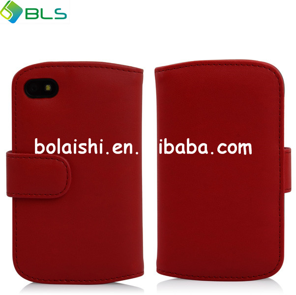 black cover cheap case for factory price leather case for blackberry q10