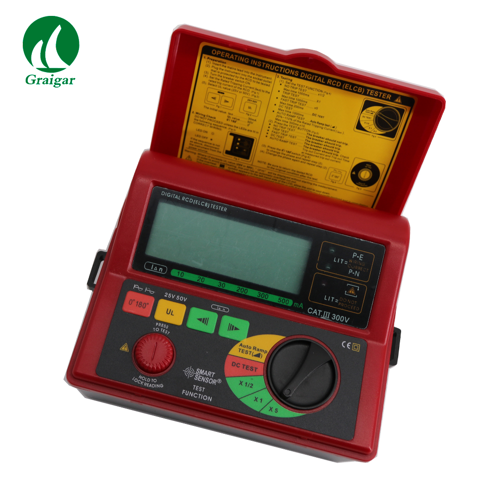Digital RCD Tester Smart Sensor AR5406 Leakage Tester Leakage Current Test