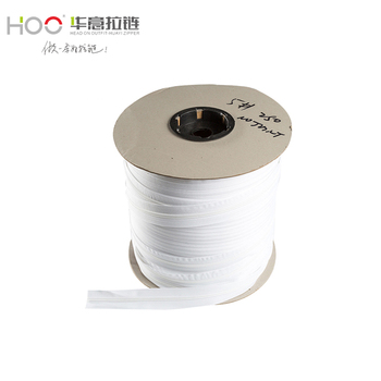 HOO Factory Customize styles and colors 100 nylon zipper roll Home Textile Long Chain Zipper
