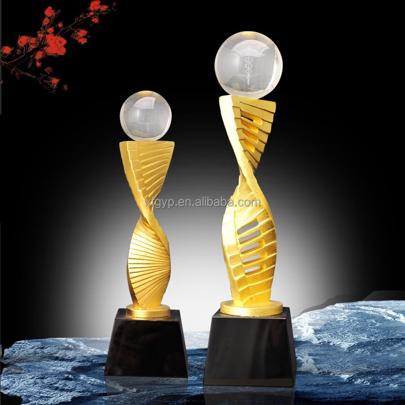 Crystal Sphere Ball Metal Rotary Design Type Trophy