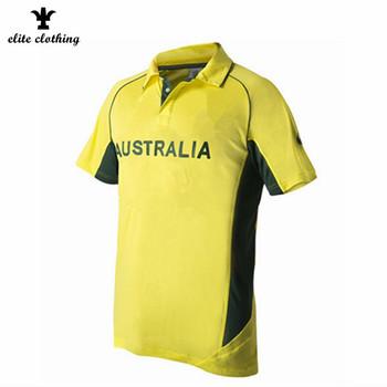 868d74a33a5 Custom Coloured Australia Cricket Jerseys Bulk Price - Buy Australia ...