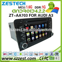 ZESTECH car dvd for Audi A3 Dashboard Placement and Bluetooth,GPS,MP3 / MP4 ,Radio Tuner,Touch Screen,TV Combination