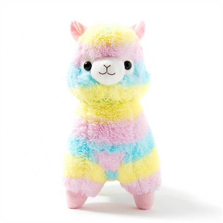 Soft Plush fabric for Stuffed <strong>animal</strong> Colorful 20cm,45cm Alpaca Christmas toys
