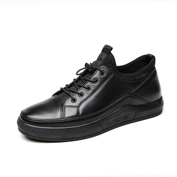 genuine leather upper sport shoes men sneakers casual men shoes