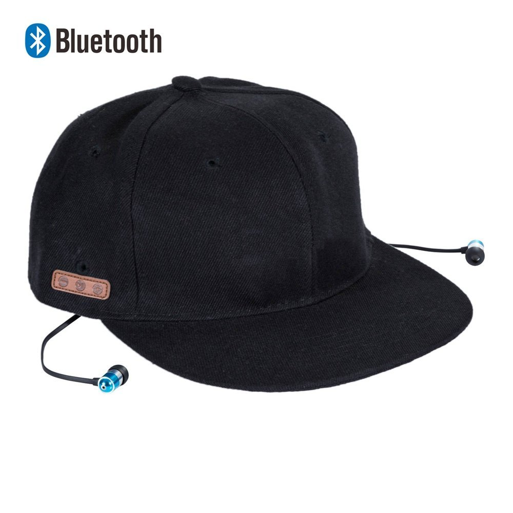Zibaar Bluetooth Hat Bluetooth Baseball Cap, Bluetooth Cap Wireless Hat Bluetooth Headset Hat Combined with Bluetooth V4.1 Stereo Bluetooth Headset and Mic, Hands Free Talking for Cell Phones-Black