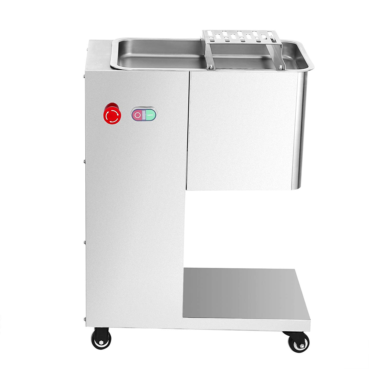 FoodKing Commercial Meat Slicer 1100LB/H 550W Stainless Steel Fresh Meat Cutter 3mm Cutting Blade ElectricMeat Cutting Machine for Restaurant (1100LBS/H)