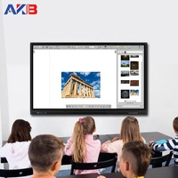 All in one touch screen 65 Inch portable interactive whiteboard smart tv for education and conference