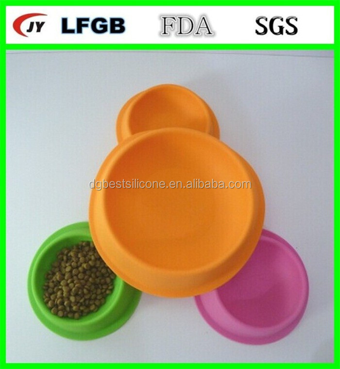 New design silicone dog bowls with stand for pretty pet