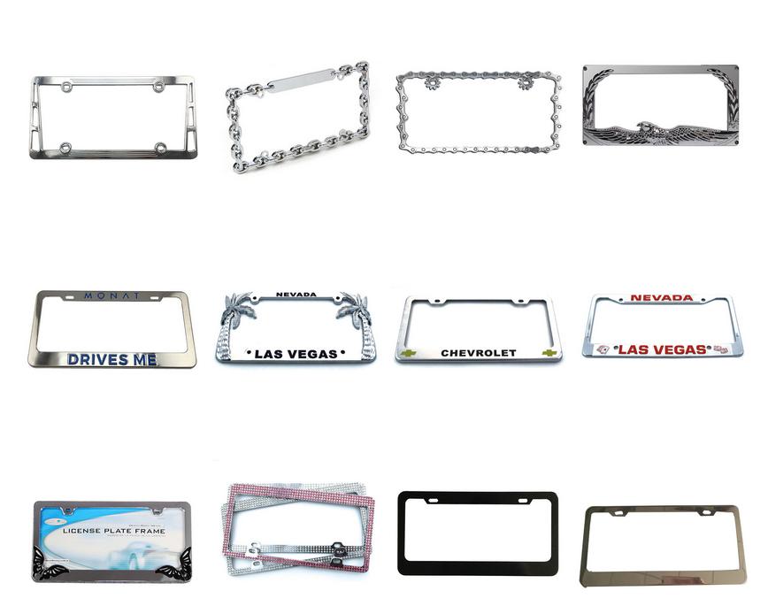 Personalizzato promozionale pubblicità targa in bianco numero di targa della vettura divertente degli stati uniti di plastica targa per qualsiasi disegno con in rilievo
