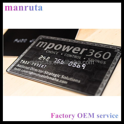 Leading Manufacture fake credit card like business card PVC material
