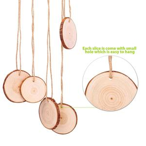 Natural Wood Slices DIY Craft kit Unfinished Circles for Arts and Christmas Ornaments