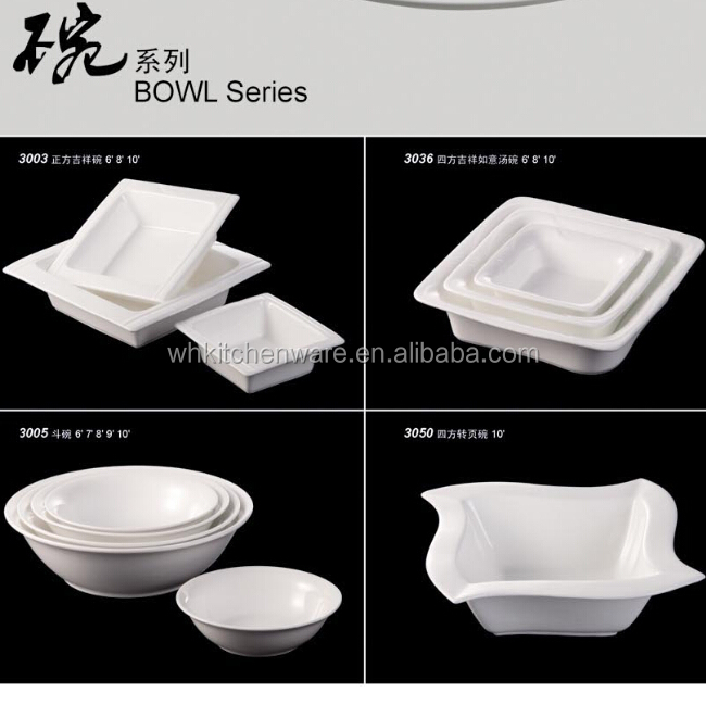 Five Star Hotel Buffet Line High Quality Magnesium Tableware Porcelain