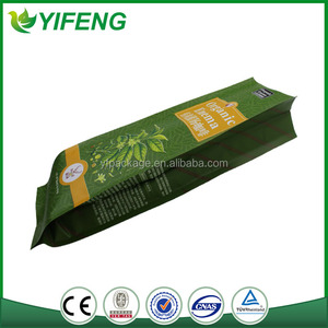 Quality First unique Shape cycling food bag for coffee packing(laminated material)