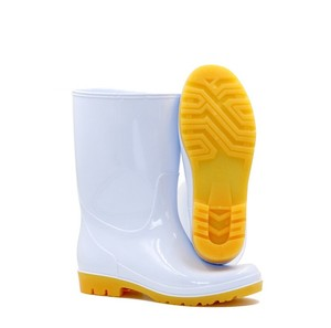 White Waterproof Ankle PVC Work Boots for Foodstuff